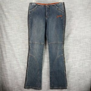Harley Davidson Side Zip Jeans 8 Long Tall